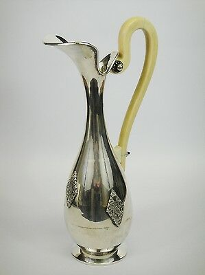 Brocca In Argento 800 E Materiale Pregiato Antique Silver Pitcher Ivory Colored
