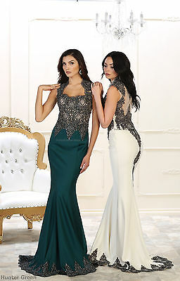 Special Occasion Prom Fitted Red Carpet Evening Dresses Formal Embroidered Gowns
