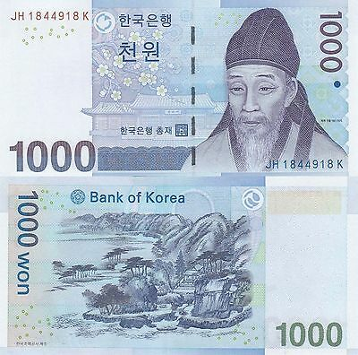 South Korea 1000 Won (2007) - Scholar/Gaesangjunggeodo/p54 UNC
