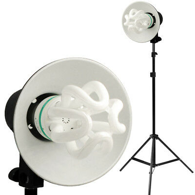 "50W 6.5"" Light Photo Studio Stand Photography Continuous Lighting Head Kit"