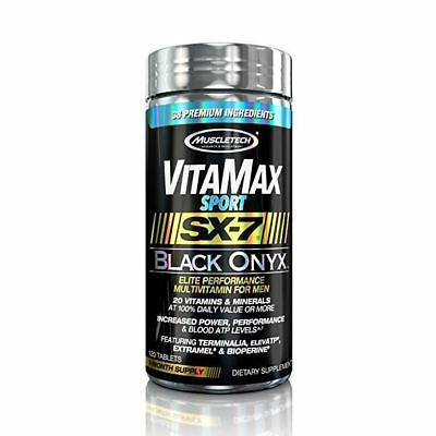 Muscletech Vitamax Sport SX-7 Black Onyx for MEN 120 Tablets 1 Month Supply
