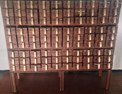 1960s huge • APOTHECARY • wood card catalog / loft library Buffalo NY 🙀🙀🙀