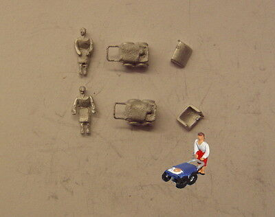 P&D Marsh N Gauge n Scale C23 Mother with baby in pram (2) castings need paintin