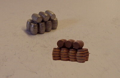P&D Marsh N Gauge n Scale B489 Stack of large barrels casting requires painting
