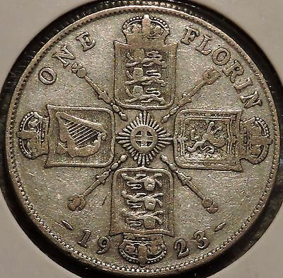 British Florin - 1923 - Big Silver Coin - $1 Unlimited Shipping
