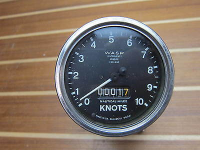 WASP Instruments Knot Log & Speedometer Gauge with Gimbal Housing Mount