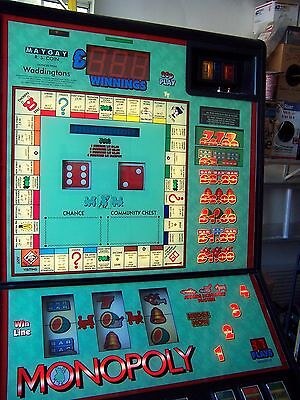 RARE Monopoly Slot Fruit machine Maygay from UK Converted to US power FREE PLAY