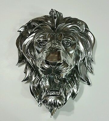Lion Head Bust Hanging Wall Mount Animal Home Decor Collection Statue Figurine