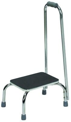 Foot Step Stool with Handle Hand Rail Safety Mobility Ladder Portable Non-Slip