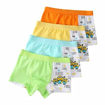 Toddler Boys Cotton Minions Character Boxer Briefs Potty Training Pants,4 Pack