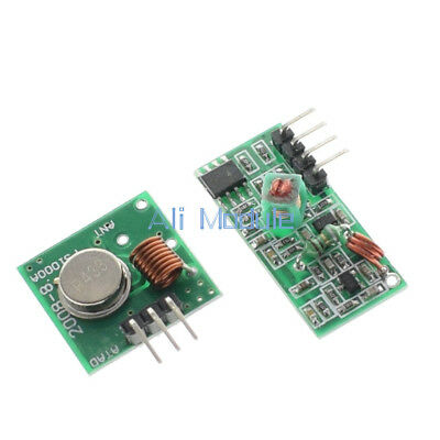 2PCS 433Mhz RF Transmitter And Receiver Link Kit For ARM/MCU Remote Control am