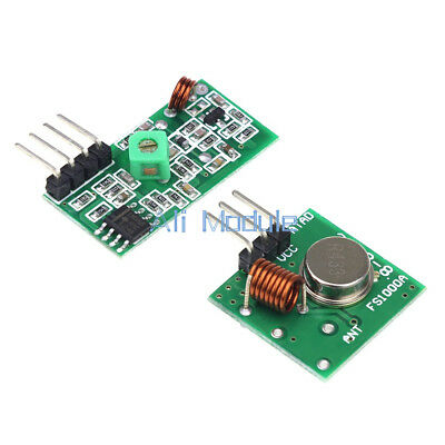 5 PCS 433Mhz RF Transmitter And Receiver Link Kit For ARM/MCU Remote Control am