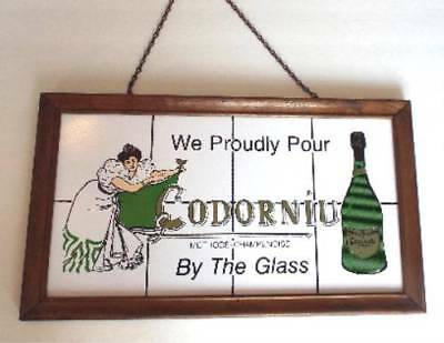 """WE PROUDLY POUR CODORNIU BY THE GLASS"" Vintage Sparkling Wine SIGNAGE, Bar Sign"