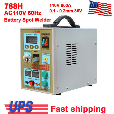 110V 18650 Battery Charger 788H Spot Welder Welding Soldering Foot Pedal Switch