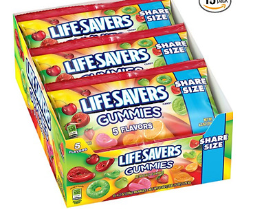 NEW!!! Lifesavers Gummies Five Flavor Pouches, 4.2 Ounce (Pack of 15) (03/2017)