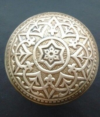 Antique Ornate Brass or Bronze Door Knob - Victorian Eastlake - Rare Design Star