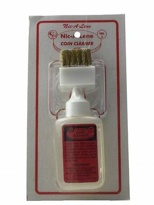 Nic-A-Lene Coin Cleaner Kit 1.25 oz with Brush & Holder