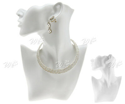 White Chain Jewelry Pendant Earring Shop Bust Stand Display Holder Fashion