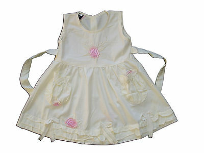 New Baby Girls Pale Yellow Floral Cotton Party Dress From 3-6 to 12-18 Months