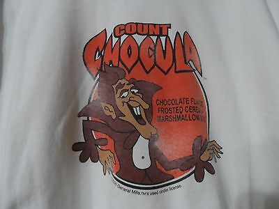 COUNT CHOCULA 2006 Used General Mills Cereal White Screened T-Shirt 2XL