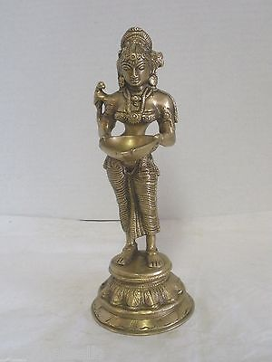 Lakshmi Brass Statue  with Bowl - 9.50 ""