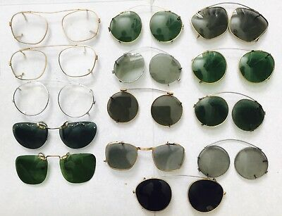 Job Lot Of Vintage Clip On Sunglasses Gold Filled Clip On Spectacles