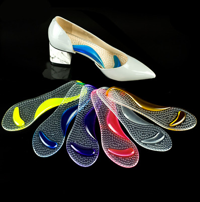 Women Flat Feet Foot Arch Gel Heel Support Shoe Inserts Insoles High Heels Pads