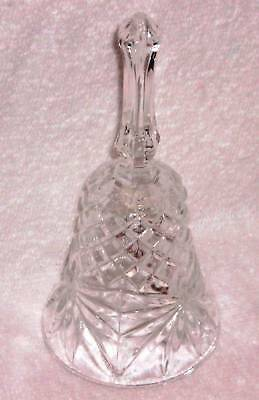 "Bells - 5 1/4"" Crystal Bell w/Star & Diamond Design"