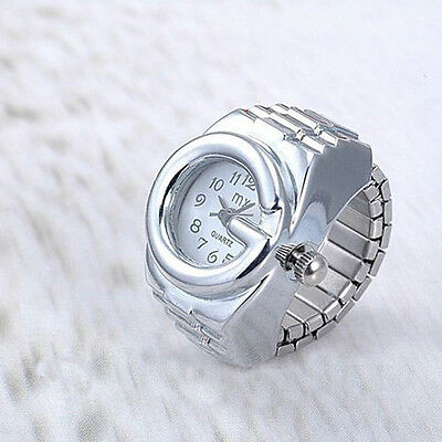 ladies Stainless Steel Random Creative Crystal Finger Ring Watches Jewelry