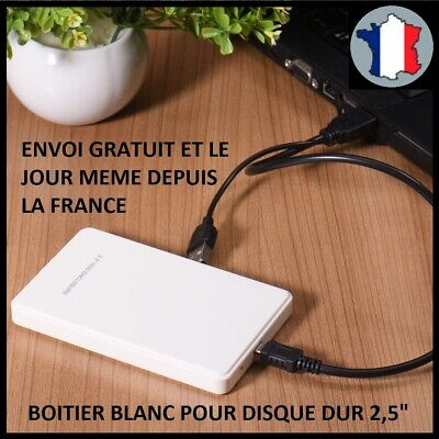 "Boitier Pour Disque Dur 2.5"" Usb 2.0 Hdd Externe Sata Ssd Stockage Protection N"