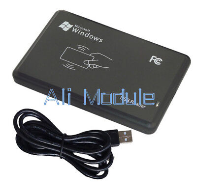 125Khz USB RFID Contactless Proximity Sensor Smart ID Card Reader EM4100 AM