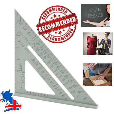 "7""Aluminum Triangle Ruler Square Set, 30/60 &45/90 Degrees Protractor 18*18*25cm"