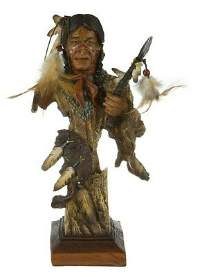 Indianer Krieger Büste Western Wilder Westen Wildwest Deko Figur Indian Warrior