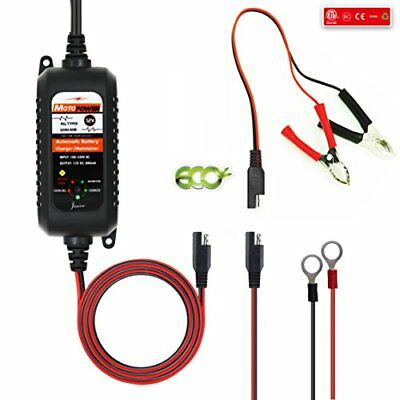MOTOPOWER MP00205A 12V 800mA Fully Automatic Battery Charger / Maintainer for...