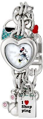 Disney Women's Minnie Mouse Dial Charm Watch Mother-Of-Pearl MN2010