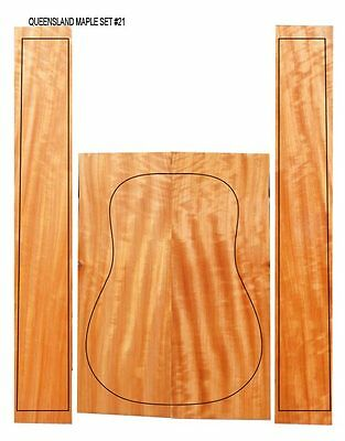 Flamed Queensland (Australian) Maple Acoustic Guitar Back & Sides #21