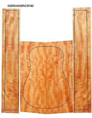 Flamed Queensland Maple Acoustic Back & Sides Set for Guitar Maker #22