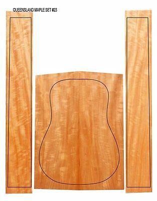 Flamed Queensland Maple Acoustic/Classical Guitar Back & Sides Set #23