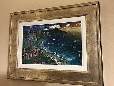 "Hawiian Sunset  Alexander Chen Seriolithograph in Color on Canvas 11.5"" X 17.5"""