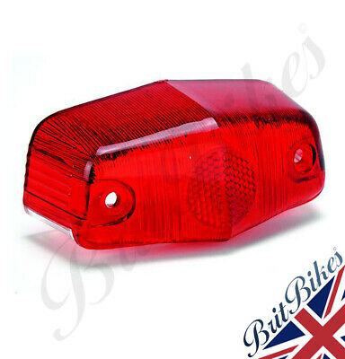 REAR LAMPS LENS - Replica lens for Lucas 525 Motorbike rear lamp - 573819