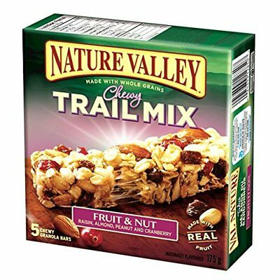 Nature Valley Fruit & Nut Trail Mix Chewy Granola Bars 5-Count 175 Gram