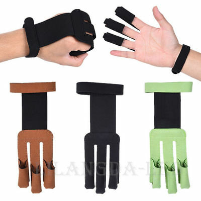 Archery Protect Glove 3 Finger Pull Bow Arrow Shooting Gloves Finger Protector