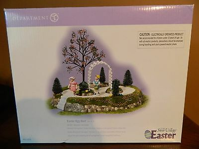 Snow Village Department 56 Easter Egg Hunt WOW what a piece Animated Retired