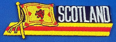 Scotland Lion Flag Patch Embroidered Iron On Applique