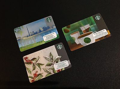 Canada Starbucks Gift Card -- Lot Of 3 Pcs.- For Collectible - New
