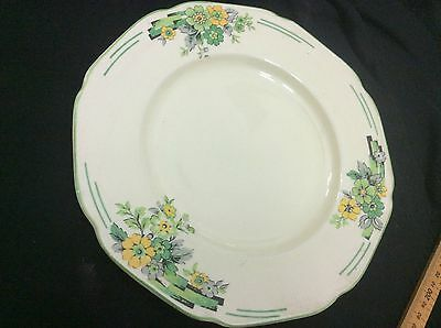 Crown Ducal Ware Plate May made in England Green deco flowers