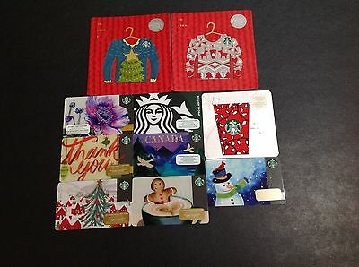 Canada Starbucks  Gift Card  - Lot Of  10 Pcs. - For Collectible -- New