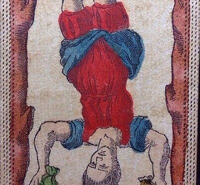 Authentic Major Arcana Hanged Man Tarot Playing Cards Fortuna Antique Single