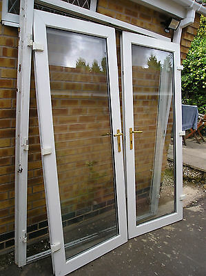 Double Glazed French Doors Wide X High Jim Lawrence Handles Picclick Uk
