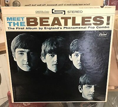 Vintage Meet The Beatles Capitol Record LP ST 2047 VERY NICE EXCELLENT